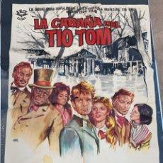 Cinema: CARTEL DE CINE LA CABAÑA DEL TIO TOM ARCE FILMS O.W. FISHCER 1965. Lote 277653168