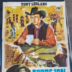 Cine: CARTEL DE CINE TORREJON CITY EASTMANCOLOR FILMS CON TONY LEBLANC 1970. Lote 277653433