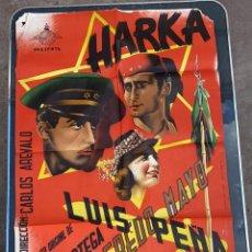 Cine: CARTEL DE CINE HARKA LATINA FILMS 1962 CON ALFREDO MAYA Y LUIS PEÑA. Lote 277653538