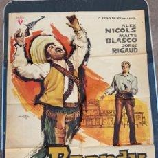 Cine: CARTEL DE CINE BRANDY RADIO FILMS CON ALEX NICOLS 1964. Lote 277653718