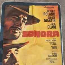 Cine: CARTEL DE CINE SONORA CONCORDIA CON GILBER ROLAND 1969. Lote 277654473