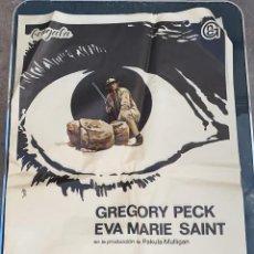 Cine: CARTEL DE CINE LA NOCHE DE LOS GIGANTES BENGALA CON GREGORY PECK Y EVA MARIE SAINT 1969. Lote 277654613