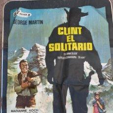 Cine: CARTEL DE CINE CLINT EL SOLITARIO FILMAX CON GEORGE MARTIN Y FERNANDO SANCHO 1966. Lote 277654788