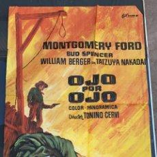 Cine: CARTEL DE CINE OJO POR OJO 1970 FILMAX CON MONTGOMERY FORD Y BUD SPENCER. Lote 277655033