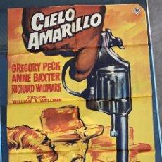 Cine: CARTEL DE CINE CIELO AMARILLO 1965 20 CENTURY FOX CON GREGORY PECK Y ANNE BAXTER. Lote 277655353