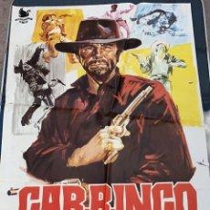 Cine: CARTEL DE CINE GARRINGO INTERIOR INSULAR FILMS CON ANTHONY STEPHEN 1970. Lote 277661763