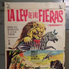 Cine: CDO M032 LA LEY DE LAS FIERAS DOCUMENTAL AFRICA SALVAJE SERENGETI POSTER ORIGINAL 70X100 ESTRENO. Lote 277752068