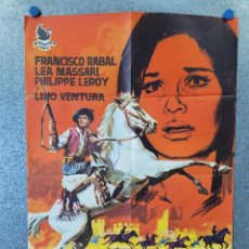Cine: LLANTO POR UN BANDIDO. FRANCISCO RABAL, LEA MASSARI CARLOS SAURA. AÑO 1964. POSTER ORIGINAL. Lote 278228813