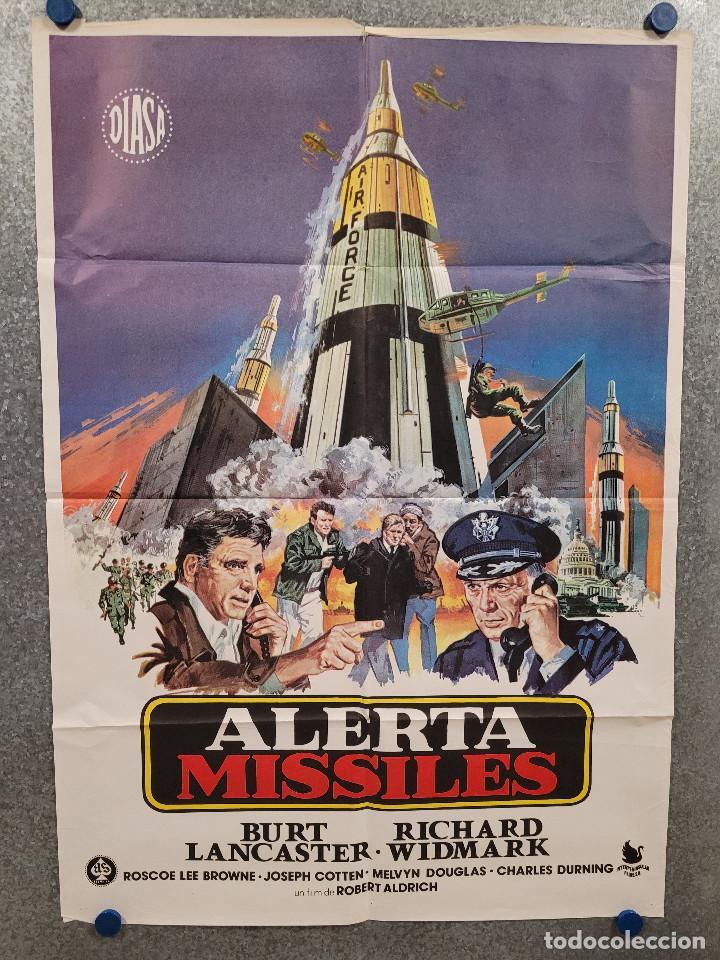 ALERTA MISILES. BURT LANCASTER, RICHARD WIDMARK. POSTER ORIGINAL (Cine - Posters y Carteles - Suspense)