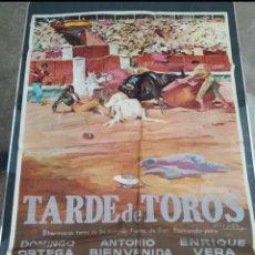Cine: TARDE DE TOROS, ANTIGUO CARTEL DE CINE ORIGINAL AÑOS 60. Lote 278304723
