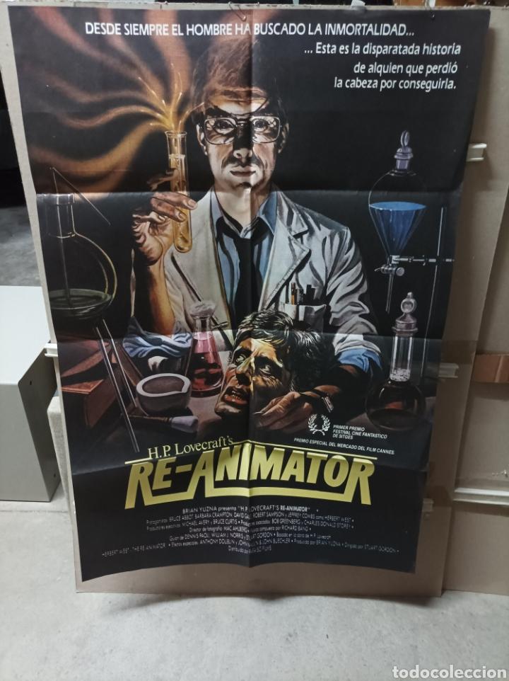 RE-ANIMATOR STUART GORDON H.P LOVECRAFT POSTER ORIGINAL 70X100 Q (Cine - Posters y Carteles - Terror)