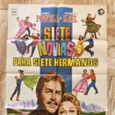 Cine: CARTEL CINE ORIG REESTRENO SIETE NOVIAS PARA SIETE HERMANOS (1954) 70X100 / STANLEY DONEN. Lote 278399508