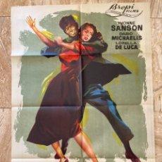 Cine: CARTEL CINE ORIG ESTRENO LA ULTIMA VIOLENCIA (1957) 70X100 / YVONNE SANSON / JANO. Lote 278400593