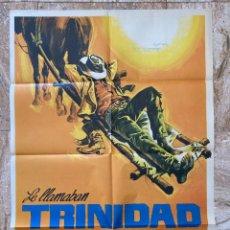 Cine: CARTEL CINE ORIG ESTRENO LE LLAMABAN TRINIDAD (1970) 70X100 / BUD SPENCER / TERENCE HILL. Lote 278401393