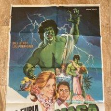 Cine: CARTEL CINE ORIG ESTRENO LA FURIA DE LA MASA (1983) 70X100 / LOU FERRIGNO. Lote 278407278