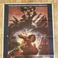 Cine: CARTEL CINE ORIG ESTRENO PUÑO MORTAL (1982) 70X100 / ELLIOTT HONG. Lote 278408523