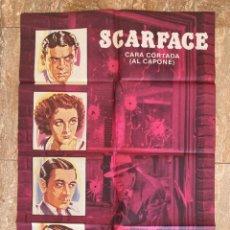 Cine: CARTEL CINE ORIG REESTRENO SCARFACE (EL TERROR DEL HAMPA) (1932) 70X100 / HOWARD HAWKS. Lote 278508928