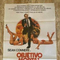 Cine: CARTEL CINE ORIG ESTRENO OBJETIVO MORTAL (1982) 70X100 / SEAN CONNERY. Lote 278509563