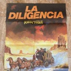 Cine: CARTEL CINE ORIG REESTRENO LA DILIGENCIA (1939) 70X100 / JOHN WAYNE / JOHN FORD / MATAIX. Lote 278512333