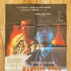 Cine: CARTEL CINE ORIG ESTRENO BARTON FINK (1991) 70X100 / JOEL COEN / ETHAN COEN. Lote 278513468
