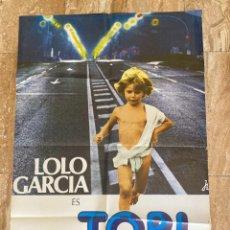 Cinema: CARTEL CINE ORIG ESTRENO TOBI (1977) 70X100 / LOLO GARCÍA / ANTONIO MERCERO. Lote 278514488