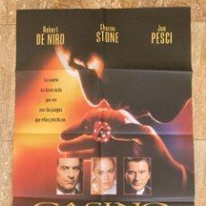 Cine: CARTEL CINE ORIG ESTRENO CASINO (1995) 70X100 / ROBERT DE NIRO / SHARON STONE / MARTIN SCORSESE. Lote 278514743