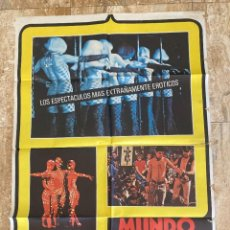 Cine: CARTEL CINE ORIG ESTRENO MUNDO DE NOCHE HOY (1978) 70X100 / GIANNI PROIA. Lote 278517268