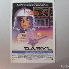 Cine: D.A.R.Y.L., YA NO PUEDEN OCULTAR SU SECRETO, CARTEL, 1985, 30,70X21,50 CM. Lote 278525068