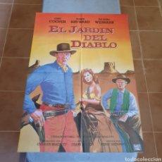 Cine: CARTEL ORIGINAL DE CINE, EL JARFIN DEL DIABLO, 94 X 67, PLEGADO, EL FOTOGRAFIADO.. Lote 278588093