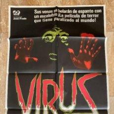 Cinema: CARTEL CINE ORIG ESTRENO VIRUS (1980) 70X100 / ANTHONY M DAWSON. Lote 278608913