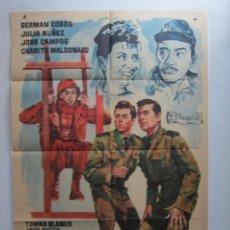 Cine: UN PASO AL FRENTE - POSTER CARTEL ORIGINAL - GERMAN COBOS JOSE CAMPOS ALFREDO MAYO - JANO - L. Lote 278609518