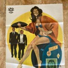 Cine: CARTEL CINE ORIG ESTRENO LOS PASAJEROS (1975) 70X100 / PAUL NASCHY / MONTALBAN. Lote 278611958