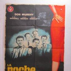 Cine: LA NOCHE DE LOS MARIDOS - POSTER CARTEL ORIGINAL - DON MURRAY JACK WARDEN DELBERT MANN - L. Lote 278614013