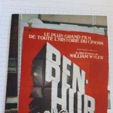 Cine: BEN HUR CARTEL FRANCÉS CHARLTON HESTON /JACK HAWKINS METRO GOLDWYN MAYER REALIZACIÓN WILLIAN WYLER. Lote 278679943