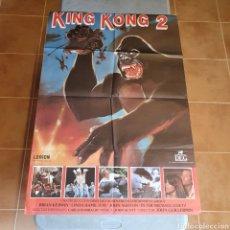 Cine: CARTEL ORIGINAL DE CINE, KING KONG 2, 98 X 68 CM, PLEGADO, EL FOTOGRAFIADO.. Lote 278682768