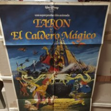 Cine: TARON Y EL CALDERO MAGICO WALT DISNEY POSTER ORIGINAL 70X100 Q. Lote 278699238