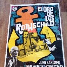 Cine: EL ORO DE LOS ROTHSCHILD, ANTIGUO PÓSTER ORIGINAL AÑOS 60 70×100. Lote 278704978