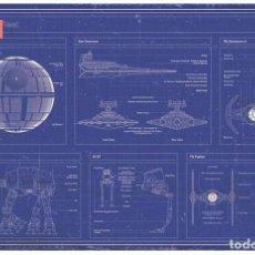 Cine: STAR WARS IMPERIAL FLEET POSTER TAMAÑO XL COMPRANDO 4 UNDS UNO ES GRATIS (3X4). Lote 278764548
