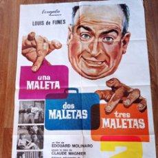 Cine: LUIS DE CINE, UNA MALETA,DOS MALETAS, TRES MALETAS, ANTIGUO PÓSTER ORIGINAL. Lote 278806313