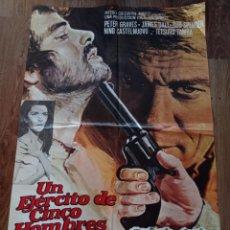 Cine: UN EJÉRCITO DE 5 HOMBRES, ANTIGUO PÓSTER ORIGINAL 1970. Lote 278807803