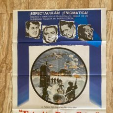 Cinema: CARTEL CINE ORIG REESTRENO ESTACION POLAR CEBRA (1968) 70X100 / ROCK HUDSON. Lote 278813418