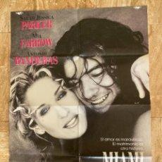 Cine: CARTEL CINE ORIG ESTRENO MIAMI (1995) 70X100 / SARAH JESSICA PARKER / ANTONIO BANDERAS,. Lote 278815773