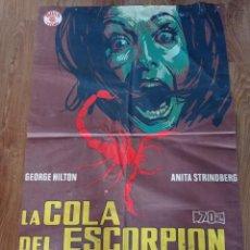 Cinema: LA COLA DEL ESCORPIÓN, ANTIGUO PÓSTER AÑOS 60 70 ×100. Lote 278824073