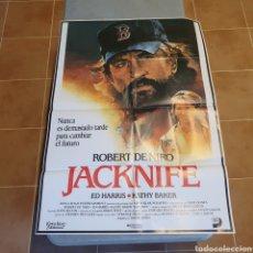 Cine: CARTEL ORIGINAL DE CINE, JACKNIFE, 95 X 67 CM, PLEGADO, EL FOTOGRAFIADO.. Lote 278825468