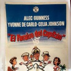 Cine: CARTEL DE CINE 70X100 - EL PARAISO DEL CAPITAN. Lote 278874143