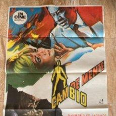 Cine: CARTEL CINE ORIG ESTRENO CAMBIO DE MENTE (1969) 70X100 / ROBERT STEVENS. Lote 278947623