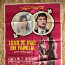 Cine: CARTEL CINE ORIG ESTRENO LUNA DE MIEL EN FAMILIA (1966) 70X100 / PAUL MCCARTNEY - BEATLES - MAC. Lote 278948783