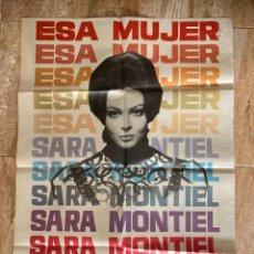 Cinema: CARTEL CINE ORIG ESTRENO ESA MUJER (1969) 70X100 / SARA MONTIEL. Lote 278949078