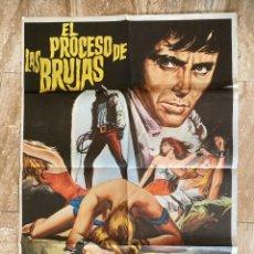 Cinema: CARTEL CINE ORIG ESTRENO EL PROCESO DE LAS BRUJAS (1970) 70X100 / JESÚS FRANCO. Lote 278950308