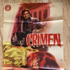 Cinema: CARTEL CINE ORIG ESTRENO CRIMEN (1964) 70X100 / JULIAN MATEOS / SONIA BRUNO / JANO. Lote 278951793
